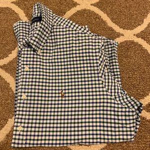 Ralph Lauren Checkered Gingham Button-Up Shirt XL